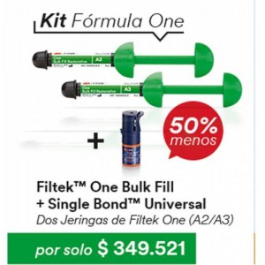 FILTEK ONE X 2 + SINGLE BOND UNIVERSAL